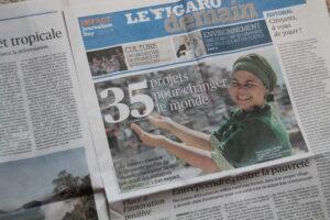 Le supplément Impact Journalism Day du Figaro. Crédits photo : Laurianne Ploix